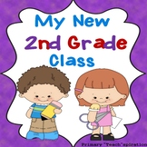 First Week Back to School 2nd Grade Activity Book Distance Learning