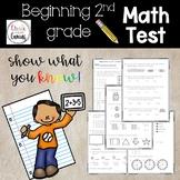 Beginning of the Year 2nd grade Math