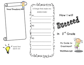 Beginning of the Year-3rd Grade Flyer/Foldable