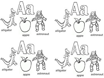 Beginning of the Year ABC Coloring Sheet Introduction / Review / Flash Cards