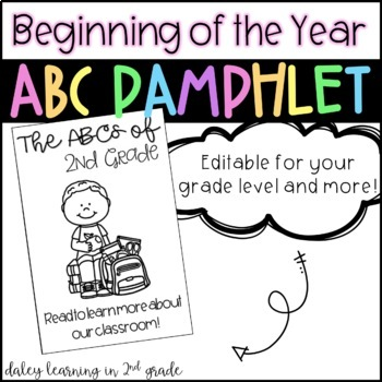 Beginning of the Year ABC Pamphlet