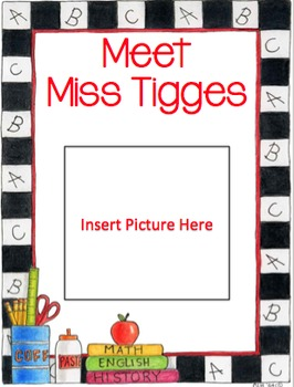 Beginning of the Year About Me Book (Teacher Version)