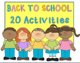 20 Beginning of the Year Activities