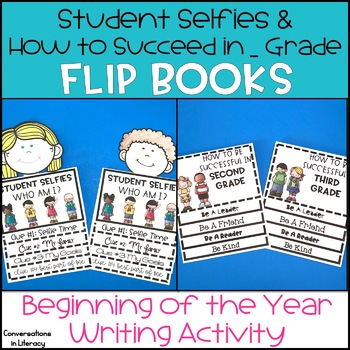 Back to School Activities Student Selfies and How to Succeed Flip Books