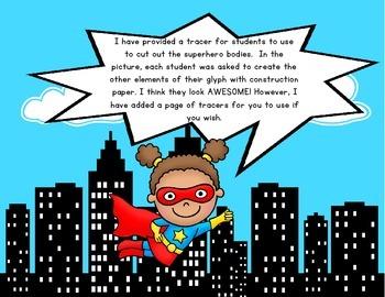 100th Day of School Activities {Superhero Glyph}