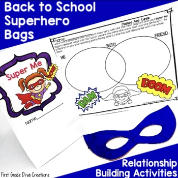 Back to School Ideas~All About Me Bag Activities ~ Superhero Themed
