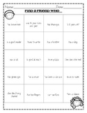 Beginning of the Year Activities for First Grade
