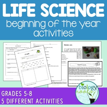 Beginning of the Year Activities for Life Science