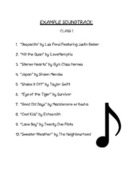 Beginning of the Year Activity: Class Soundtrack