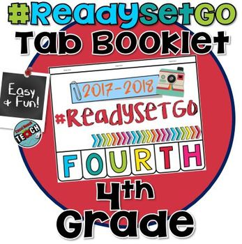 Beginning of the Year Activity FOURTH GRADE Tab Booklet