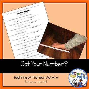 Beginning of the Year Activity: Got Your Number? {practicing measurement}