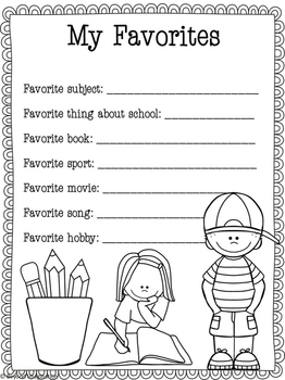 Back to School Printable Activity Pack Elementary Grades 3, 4, 5, and 6