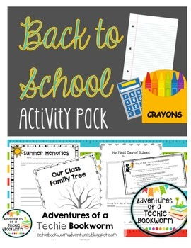 Beginning of the Year- Activity Pack