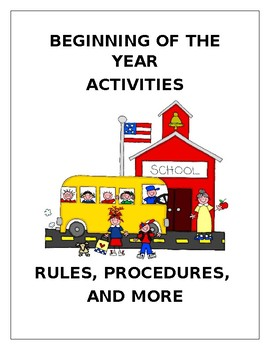 Beginning of the Year Activity Packet