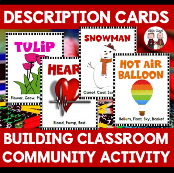 Beginning of the Year Icebreaker Activity Descriptive Cards
