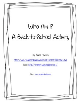 Beginning of the Year Activity- Who Am I?