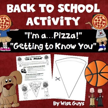 Back to School Activity for Getting to Know Students Pizza Slice
