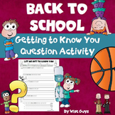 Back to School Activity for Getting to Know Students