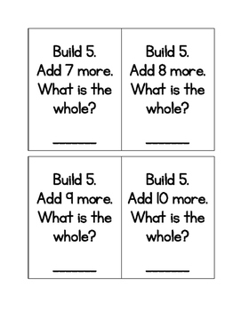 Beginning of the Year Addition Centers for 1st Grade