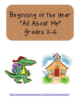 "Beginning of the Year ""All About Me"""