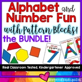 Alphabet AND Number Fun with Pattern Blocks BUNDLE!