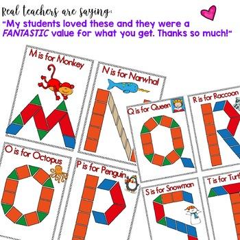 Beginning of the Year Alphabet Fun with Pattern Blocks -- MINI SIZED EDITION!