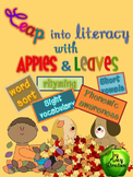 Beginning of the Year Apples & Leaves  Beginning Reader Literacy Activities