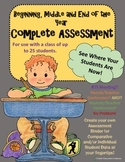 Beginning of the Year Assessment Bundle Pack - See Where Your Students are Now!