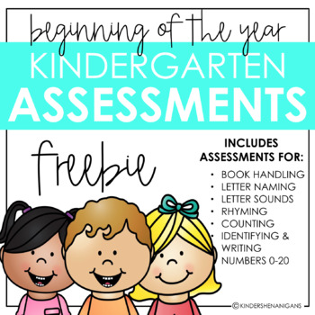 Beginning of the Year Assessments Kindergarten