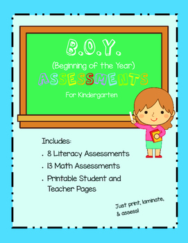 Beginning of the Year Assessments for Kindergarten (B.O.Y.)