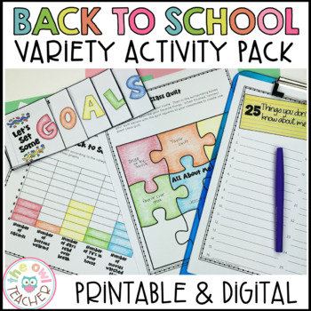 Back to School Resources and Activities Pack