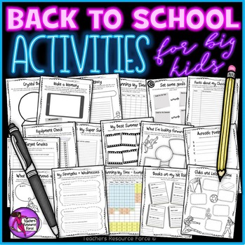 First day of School All About Me Activities