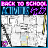 First day of School All About Me Activities Distance Learning