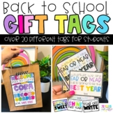Beginning of the Year   Back to School   Gift Tags for Students