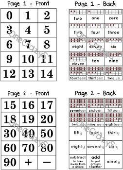 Number Cards - Tens Frame