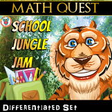Beginning of the Year: Back to School Math Activity Quest (Differentiated Set)