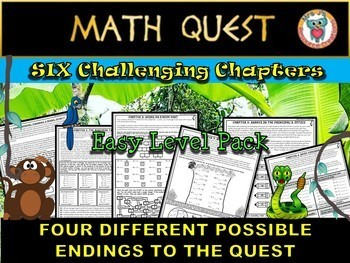 Beginning of the Year: Back to School Math Quest (EASY LEVEL Pack)