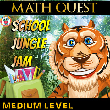 Beginning of the Year: Back to School Math Quest (MEDIUM LEVEL Pack)