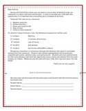 Beginning of the Year Behavior Expectation Letter