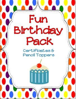 Beginning of the Year- Birthday Fun Pack