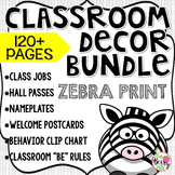 Classroom Decor Bundle - Beginning of the Year - Zebra Print