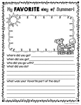 Beginning of the Year Back-to-School Booklet/Package for September