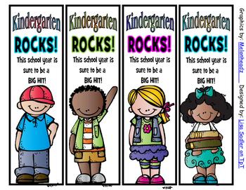 Beginning of the Year Bookmarks - 4 Designs each Preschool thru 6th Grade