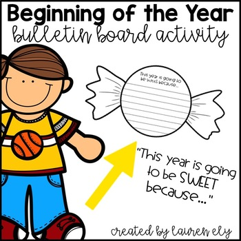 Beginning of the Year Bulletin Board Activity - This Year