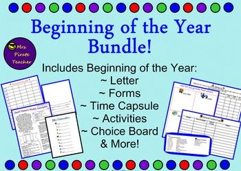 Beginning of the Year Bundle! (Editable!)