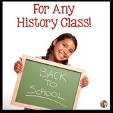 Back to School Bundle for History