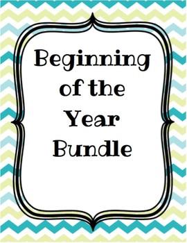 Beginning of the Year Bundle