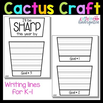 Beginning of the Year Cactus Writing Craft