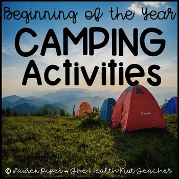Beginning of the Year Camping Themed Activity Pack