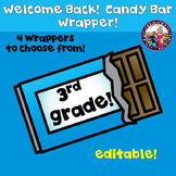Candy Bar Wrapper Beginning of the Year 3rd Grade